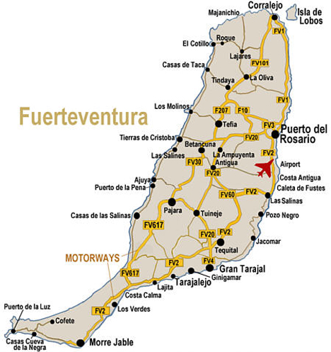 kart over fuerteventura Kart Fuerteventura | Oversiktskart over Ferieøya Fuerteventura kart over fuerteventura